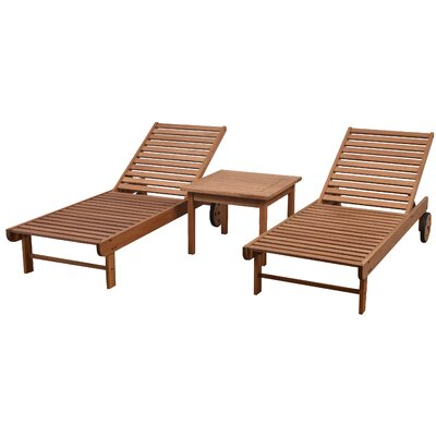 Newbury Patio 3 Piece Single Lounge Set