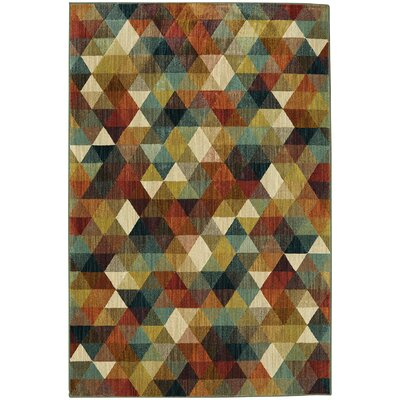 Evansville Red/Brown Area Rug Rug Size: Rectangle 5 x 7