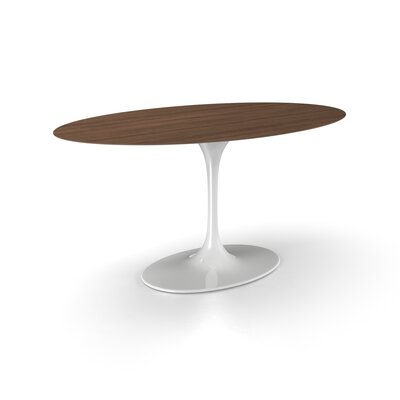 Larkson Pedestal Dining Table Top Finish: Walnut