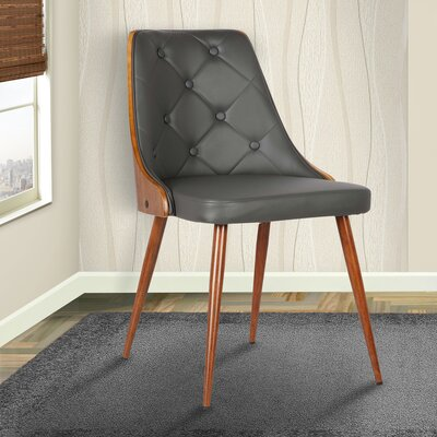 Almond Parsons Chair Upholstery: Gray