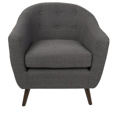 Henley Barrel Chair Color: Charcoal Gray