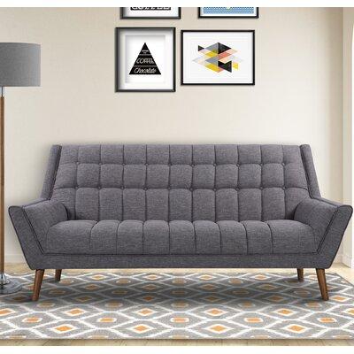 Demesne Mid-Century Modern Sofa Upholstery: Dark Gray