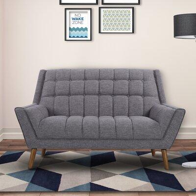 Demesne Mid-Century Modern Loveseat Upholstery: Dark Gray