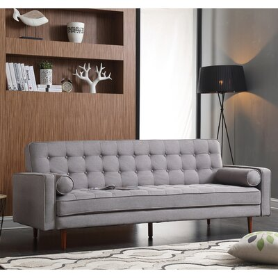 Jerry Convertible Sofa Upholstery: Gray