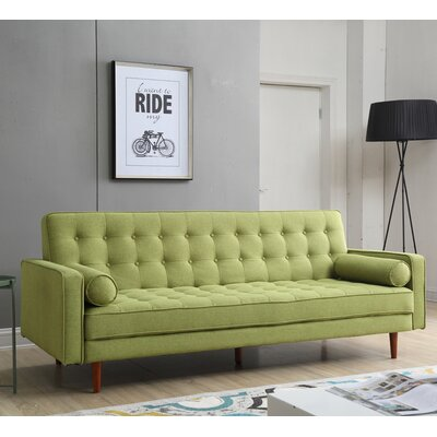 Jerry Convertible Sofa Upholstery: Green