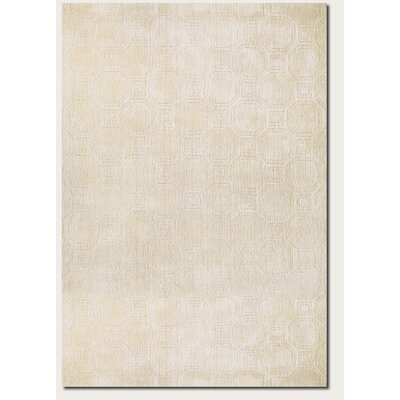 Natalie Hand-Woven Beige Area Rug Rug Size: Rectangle 36 x 56