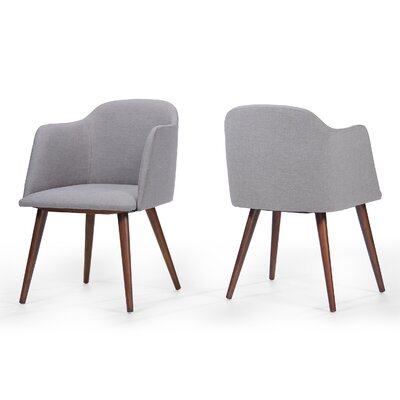 Bertaux Fabric Arm Chair Upholstery: Dark Beige