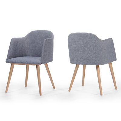 Bertaux Fabric Arm Chair Upholstery: Light Gray