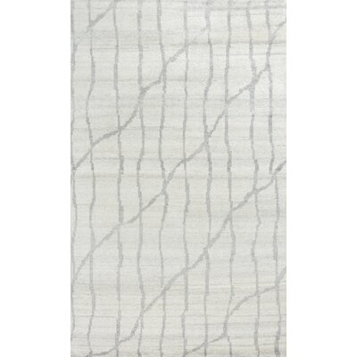 Romane Illusions Hand-Knotted Ivory/Gray Area Rug Rug Size: 8 x 11