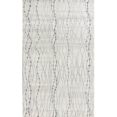 Romane Elements Hand-Knotted Ivory Area Rug Rug Size: 8 x 11