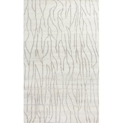 Romane Whisper Hand-Knotted Ivory Area Rug Rug Size: 5 x 8