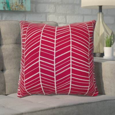 Ash Hill 100% Cotton Throw Pillow Color: Red