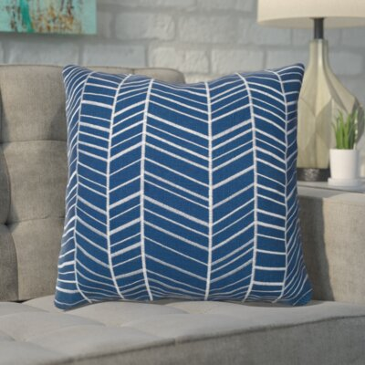 Ash Hill 100% Cotton Throw Pillow Color: Blue