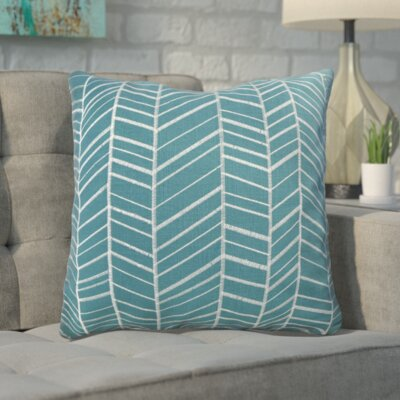 Ash Hill 100% Cotton Throw Pillow Color: Teal
