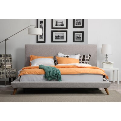 Valle Upholstered Platform Bed Size: King, Color: Biscuit
