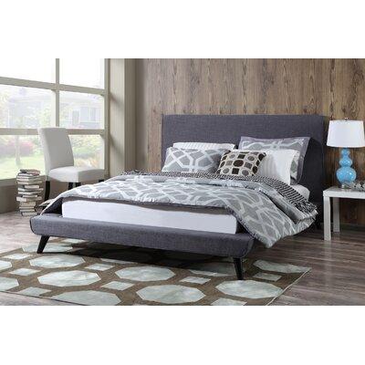Calhame Platform Bed Size: Queen, Upholstery: Grey