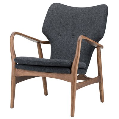 Capri Armchair Color: Dark Grey, Fabric: Tweed