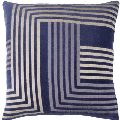 Sandrine Cotton Throw Pillow Size: 20 H x 20 W x 4 D, Color: Navy / Beige / Gray