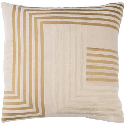 Sandrine Cotton Throw Pillow Size: 18 H x 18 W x 4 D, Color: Beige / Tan