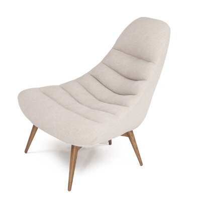 Christine Midcentury Modern Lounge Chair Color: Cream