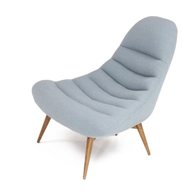 Christine Midcentury Modern Lounge Chair Color: Sky Blue