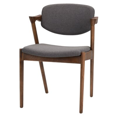 Mallory Side Chair Upholstery: Gray
