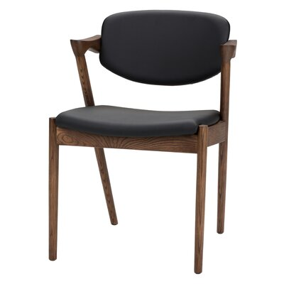 Mallory Dining Chair Upholstery: Black Naugahyde