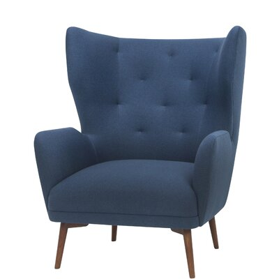 Jonathan Wing back Chair Upholstery: Lagoon Blue