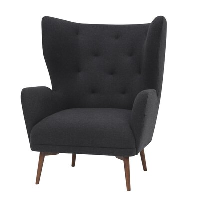Jonathan Wing back Chair Upholstery: Dark Gray