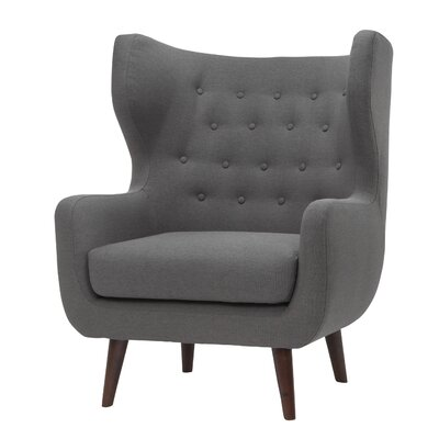 Jessie Wingback Chair Upholstery: Steel Gray