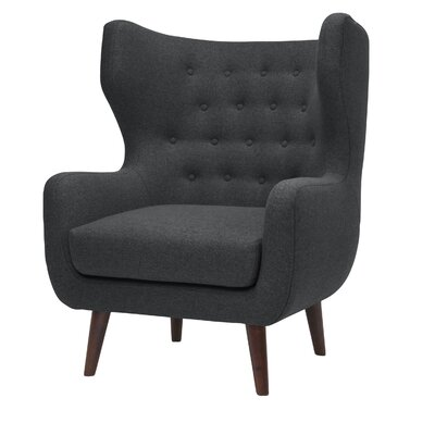 Jessie Wingback Chair Upholstery: Dark Gray