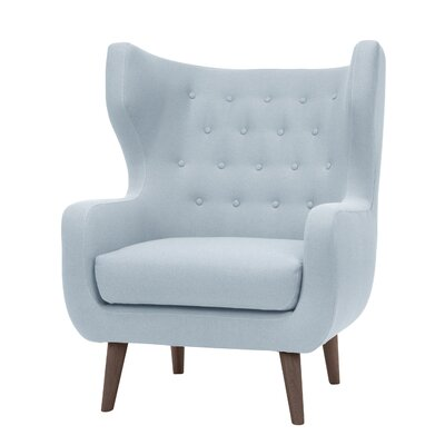 Jessie Wingback Chair Upholstery: Caribbean Blue