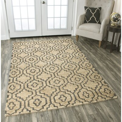Federica Hand-Woven Natural Area Rug Size: 5 x 8