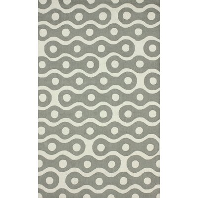 Craig Whinston Hand-Hooked Gray Area Rug Rug Size: 76 x 96