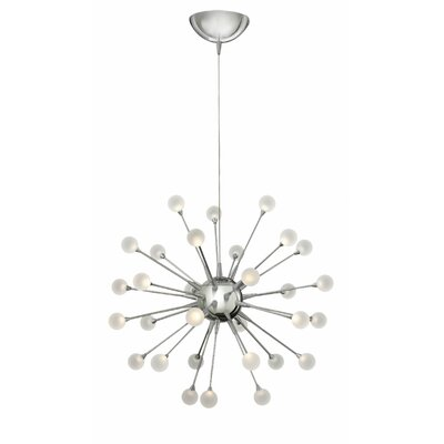 Burchard 30-Light LED Sputnik Chandelier Finish: Polished Chrome