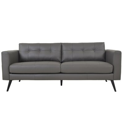 Gordon Leather Sofa Upholstery: Dark Brown