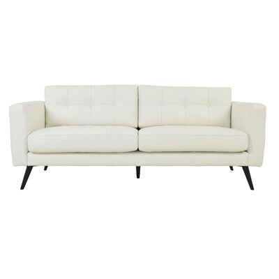 Gordon Leather Sofa Upholstery: White