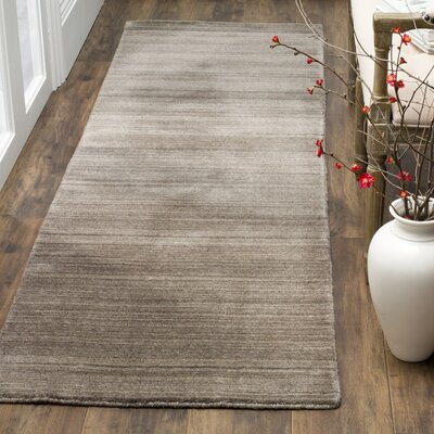 Anson Hand-Loomed Pewter Area Rug Rug Size: Runner 23 x 8