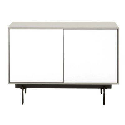 Tasha 31.5 TV Stand Color: Matte Light Gray/White High Gloss