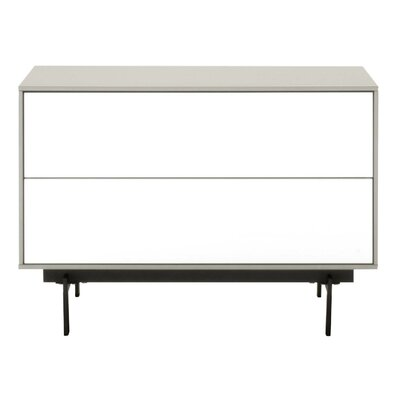 Tasha TV Stand Finish: Matte Light Gray/White High Gloss