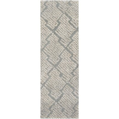 Villa Court Hand-Loomed Brown/Gray Area Rug Rug Size: Runner 26 x 8