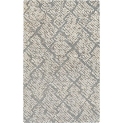 Villa Court Hand-Loomed Brown/Gray Area Rug Rug Size: Rectangle 5 x 8