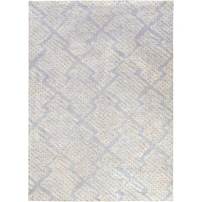 Villa Court Hand-Loomed Blue Area Rug Rug Size: 8 x 11