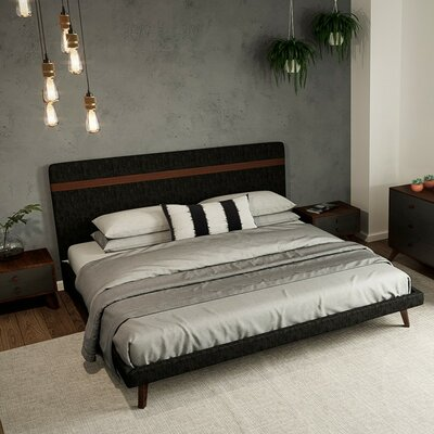 India Upholstered Platform Bed Size: Queen