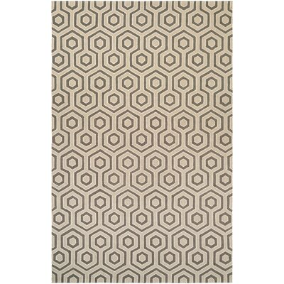 Atticus Hand-Woven Ivory/Gray Area Rug Rug Size: Rectangle 710 x 1010