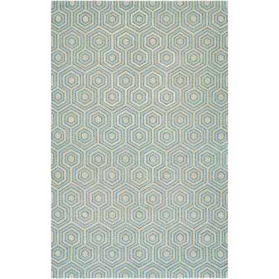 Atticus Hand-Woven Gray/Blue Area Rug Rug Size: Rectangle 53 x 76