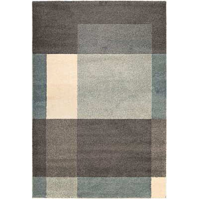 Thatcher Fortress Charcoal/Teal Area Rug Rug Size: Runner 27 x 710