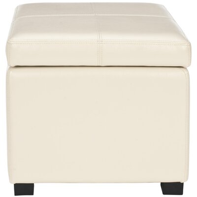 Clemens Leather Storage Ottoman Upholstery: Flat Cream