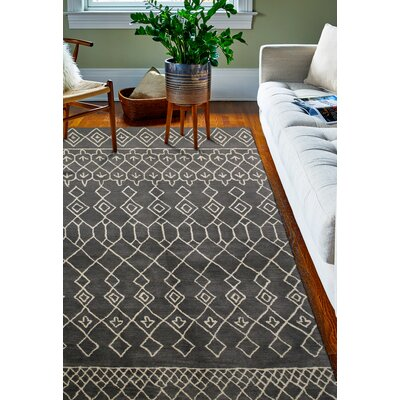Laflin Charcoal Rug Rug Size: 36 x 56