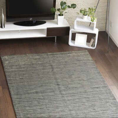 Alston Hand Woven Pewter Area Rug Rug Size: 86 x 116